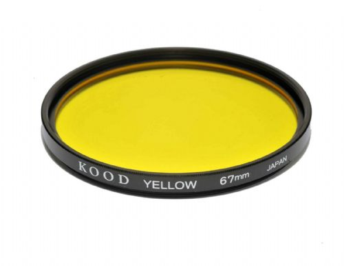 Kood High Quality Optical Glass Yellow Filter Made in Japan 67mm